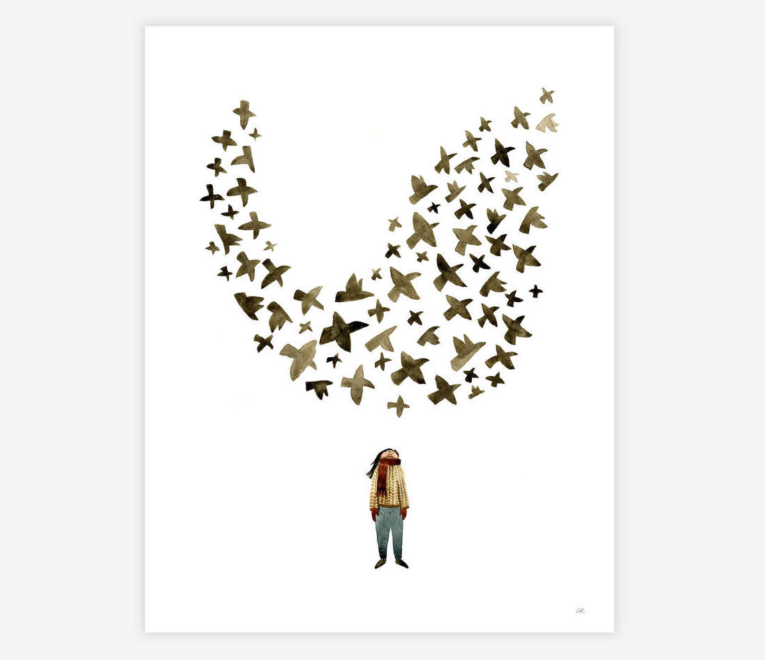 """Murmuration"" Print Art Print by Little Truths Studio from Madison Soap Company"