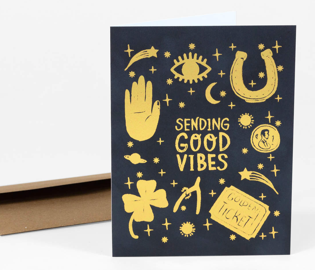 """Good Vibes Only"" Card Card by Christa Pierce from Madison Soap Company"