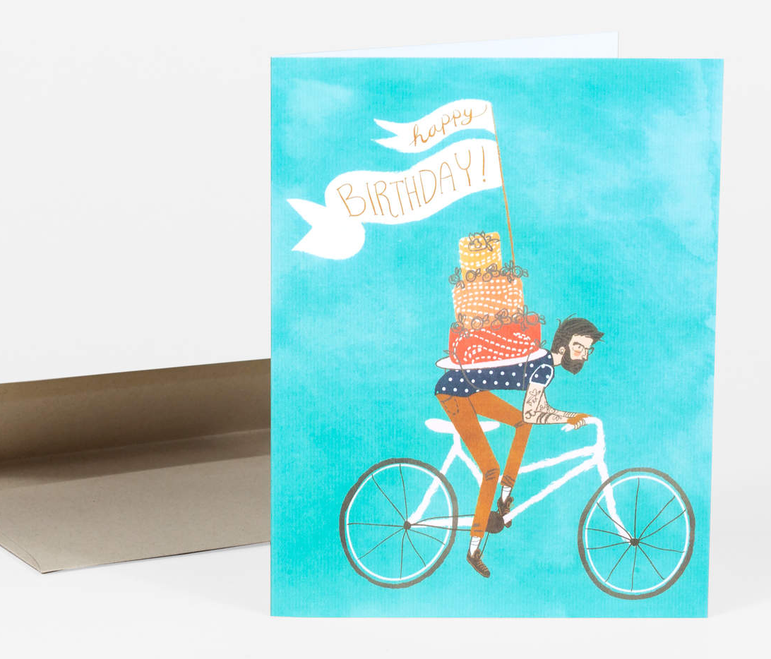 """Birthday Bicycle"" Card Card by Christa Pierce from Madison Soap Company"