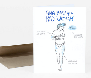 """Anatomy of a Rad Woman"" Mama Card"