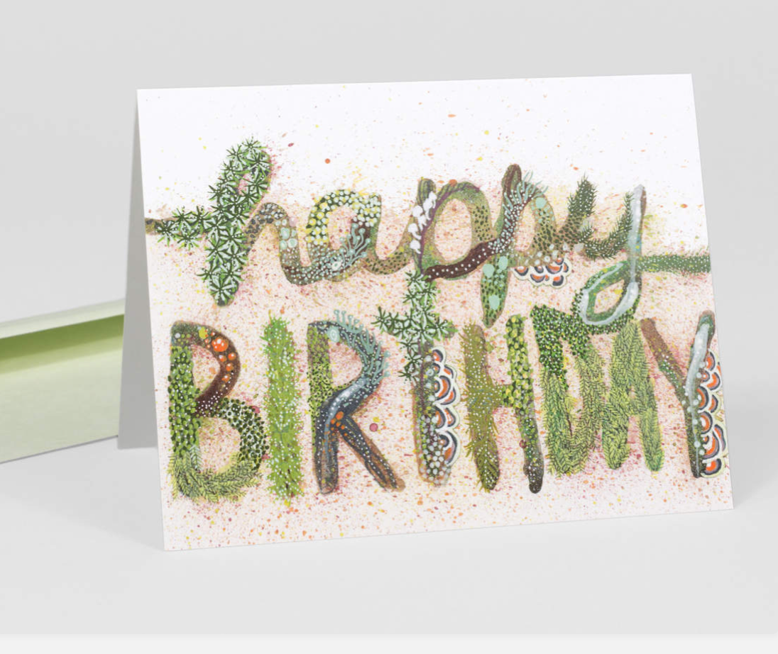"""Happy Birthday"" Card Card by Jill Bliss from Madison Soap Company"