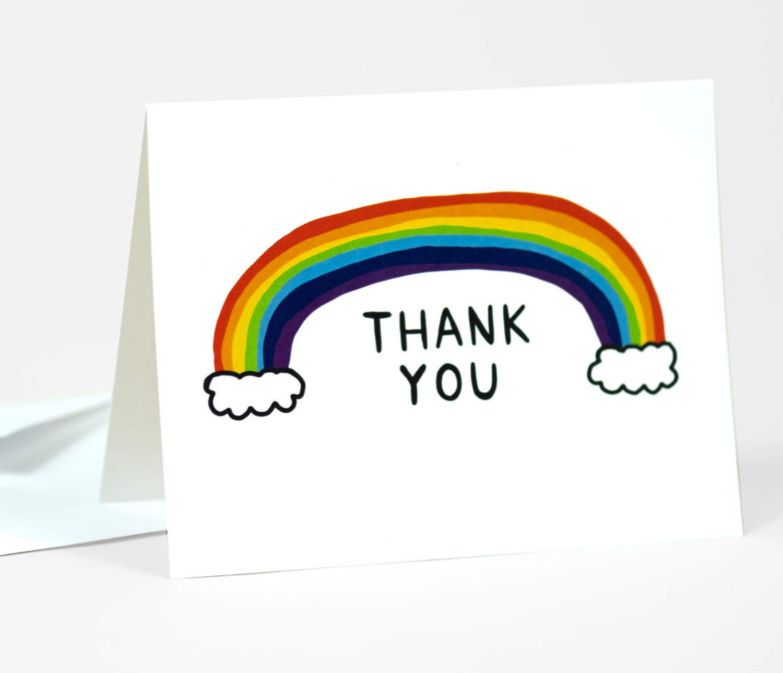 """Thank you rainbow"" Card Card by One Lane Road from Madison Soap Company"