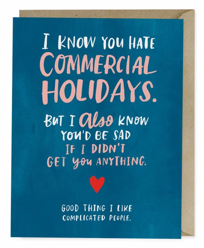 Commercial Holiday Love Card Card by Emily McDowell from Madison Soap Company