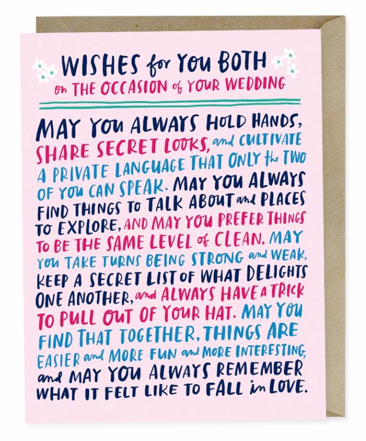 Wishes for You Both Wedding Card Card by Emily McDowell from Madison Soap Company