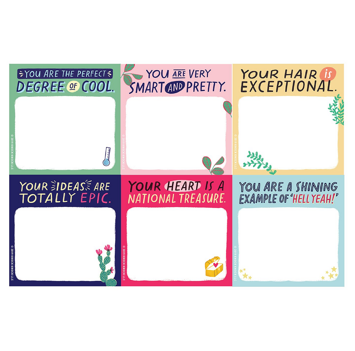 You are Very Smart and Pretty Sticky Notes Stationary by Emily McDowell from Madison Soap Company