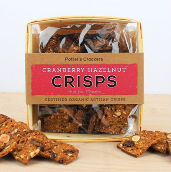 Potters Crackers, Cranberry Hazelnut