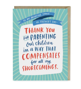 Card, Shortcomings - Father's Day Card by Emily McDowell from Madison Soap Company