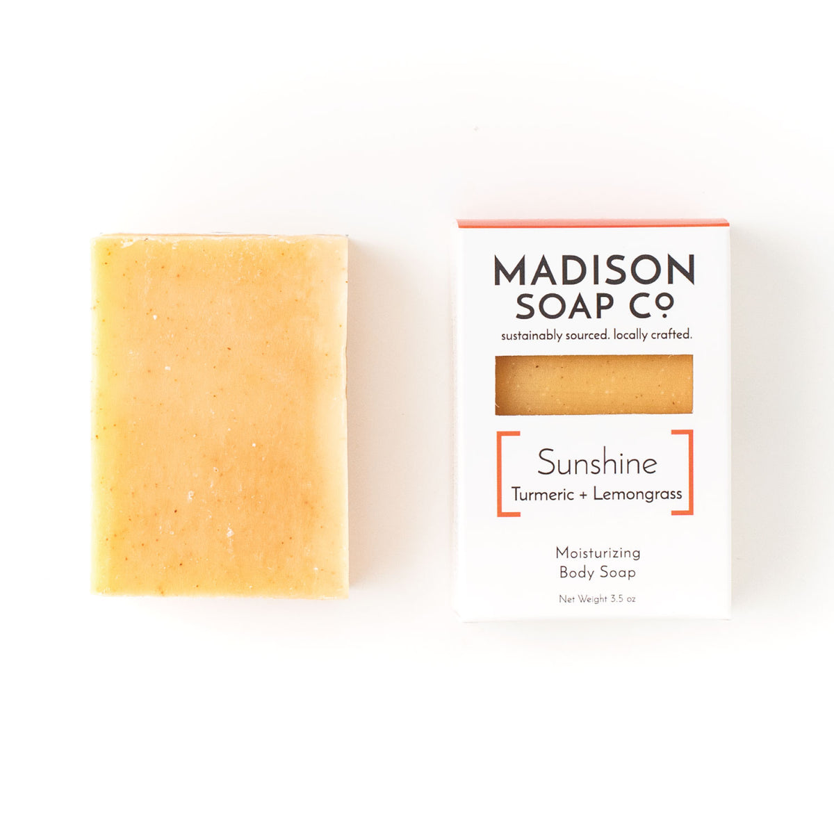 """Sunshine"" Turmeric + Lemongrass Bar Soap Soap by Madison Soap Company from Madison Soap Company"