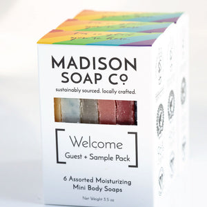 Soap, Welcome, Case-pack of 6, $3.25/bar