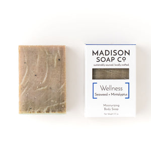 """Wellness"" Seaweed + Mintalyptus Bar Soap"