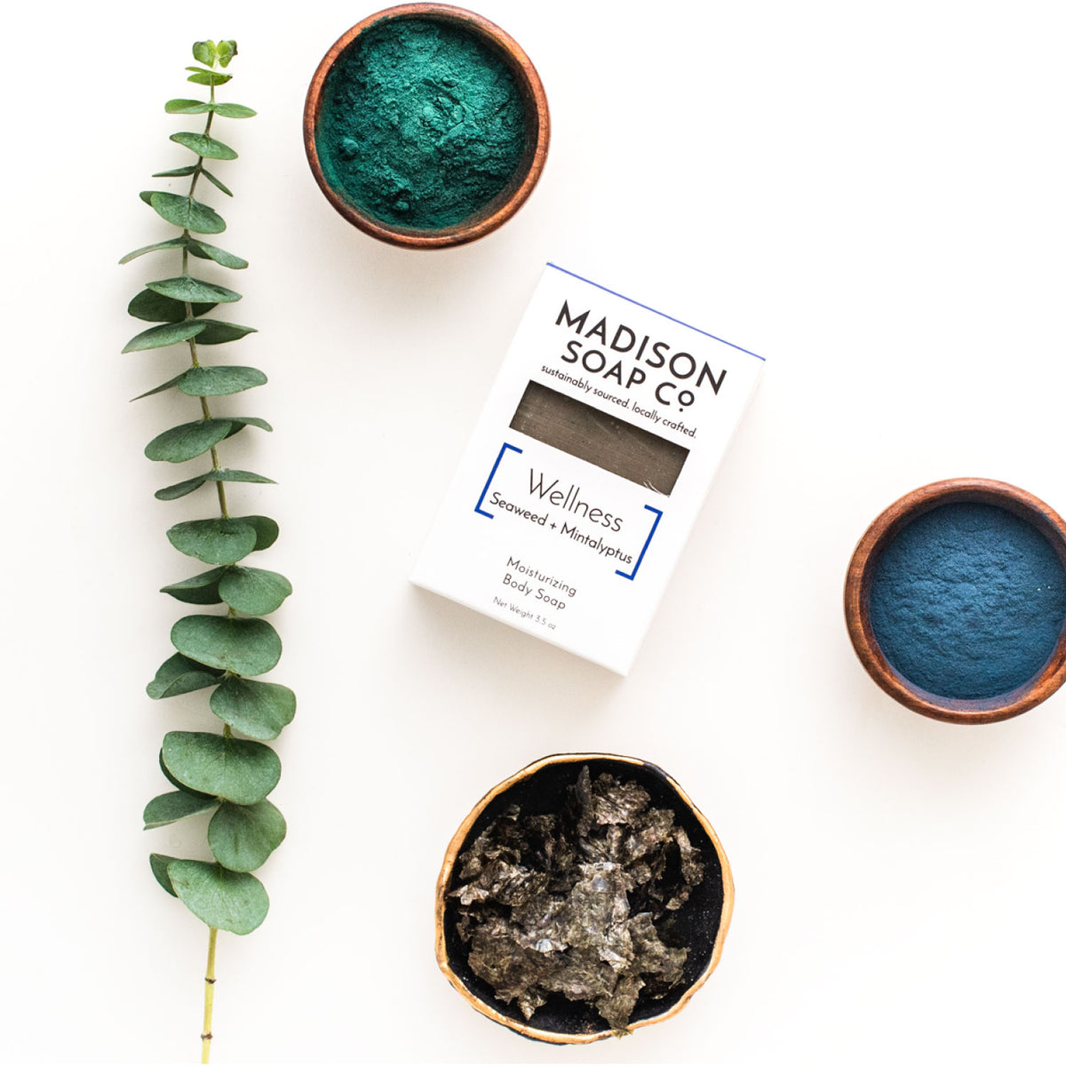 """Wellness"" Seaweed + Mintalyptus Bar Soap Soap by Madison Soap Company from Madison Soap Company"
