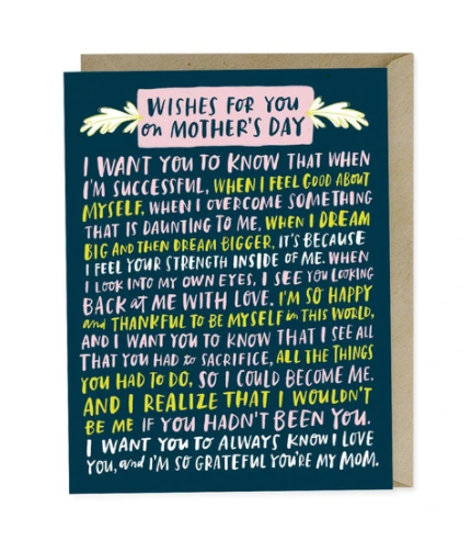 Card, Wishes for You Mom Card by Emily McDowell from Madison Soap Company