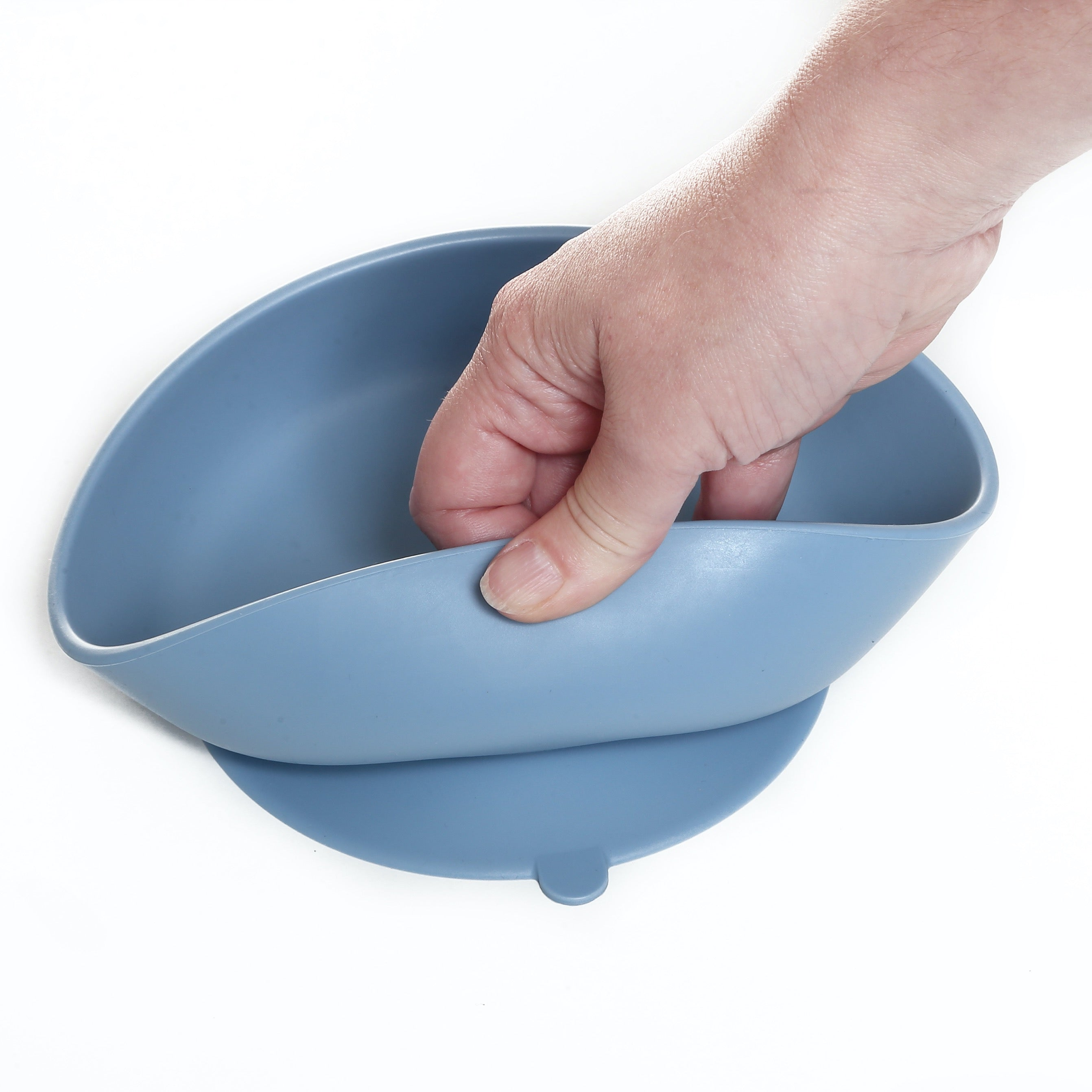 Silicone Baby Bowl Set - Blue & Marble
