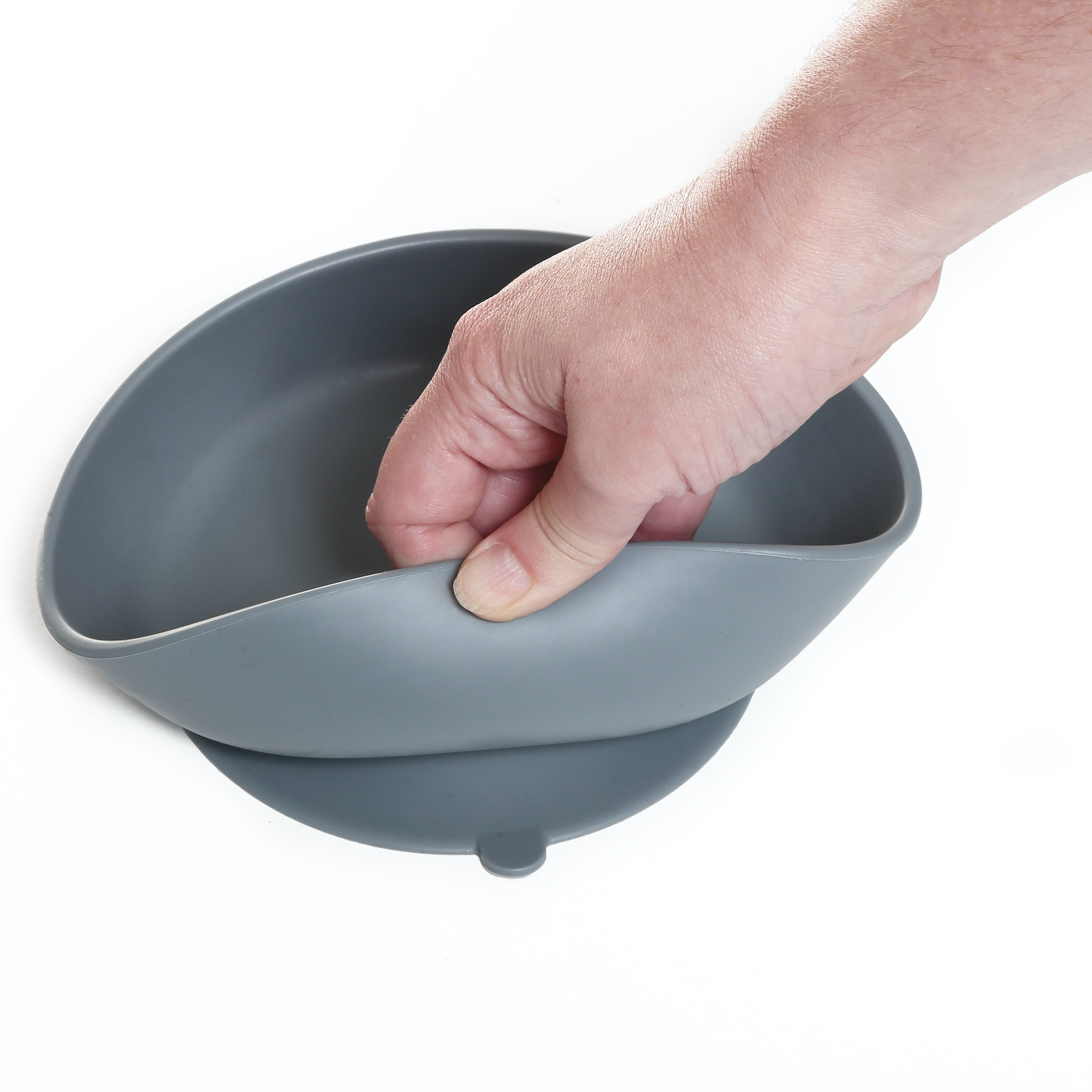 Silicone Baby Bowl - Grey