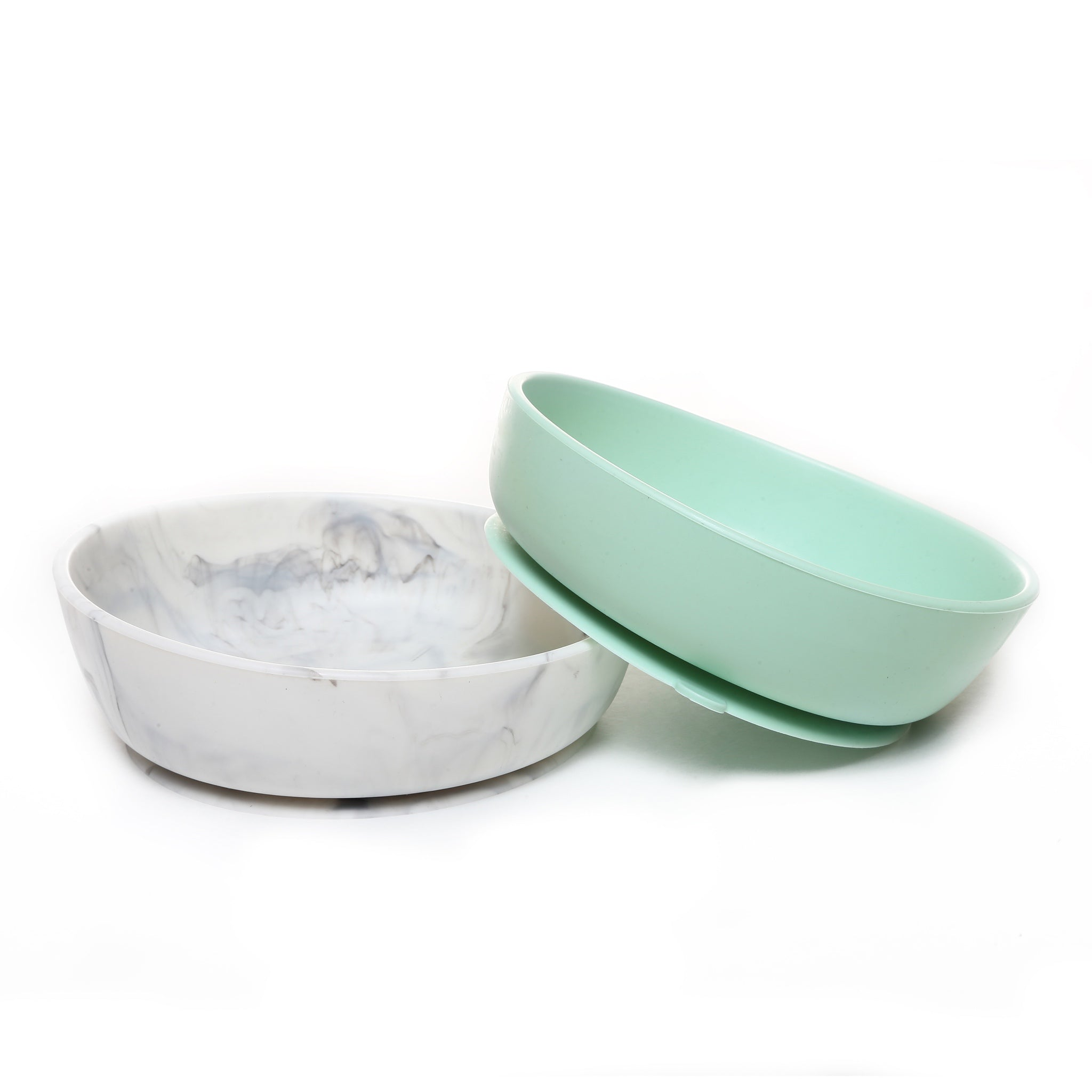 Silicone Baby Bowl Set - Mint & Marble