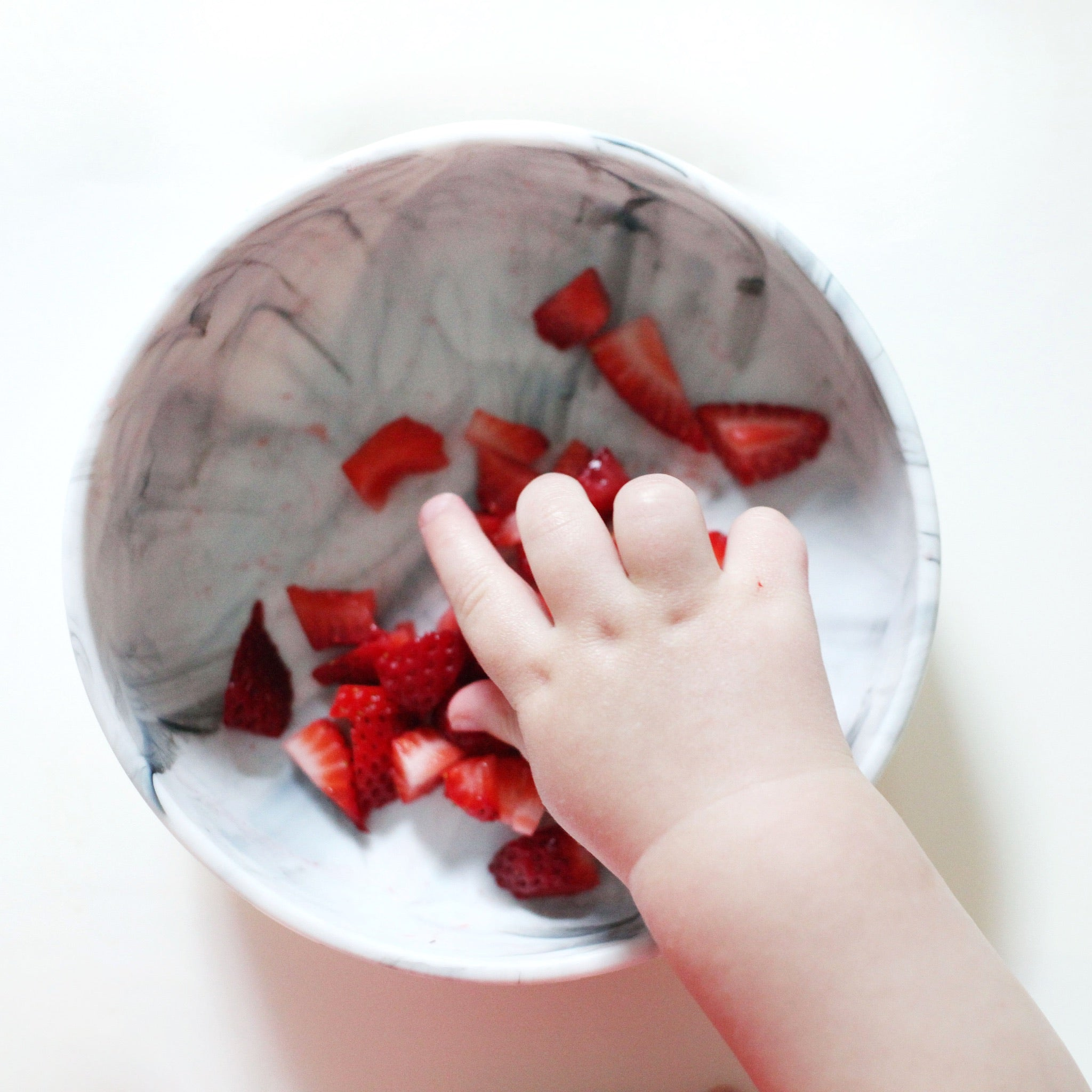 Baby Silicone Bowl Set - Blush & Marble