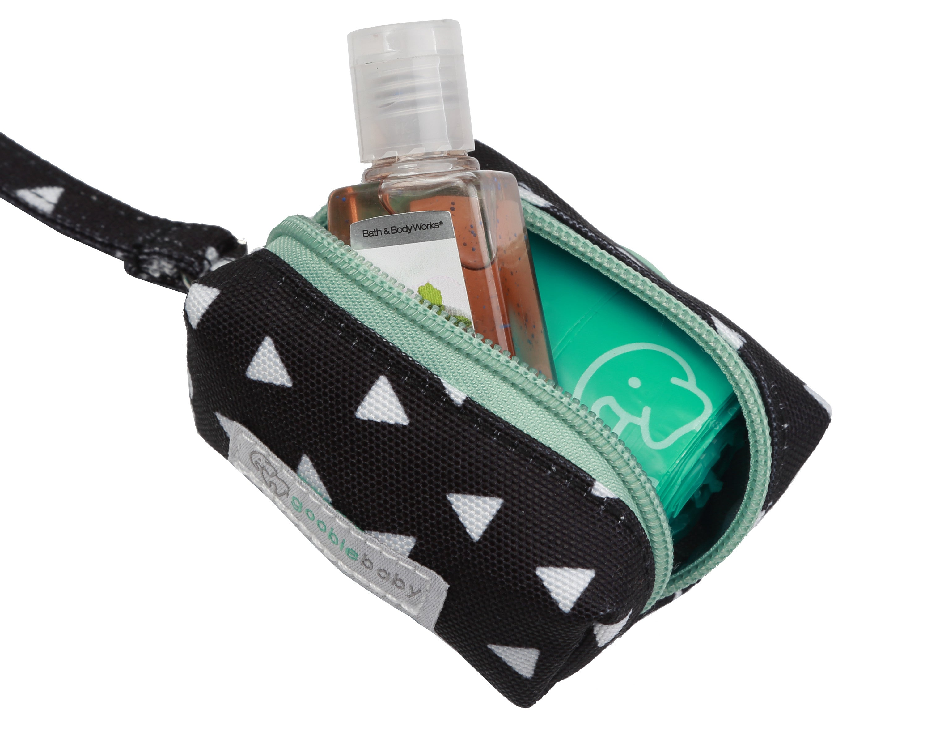 Diaper Waste Bag Dispenser - Black Triangles