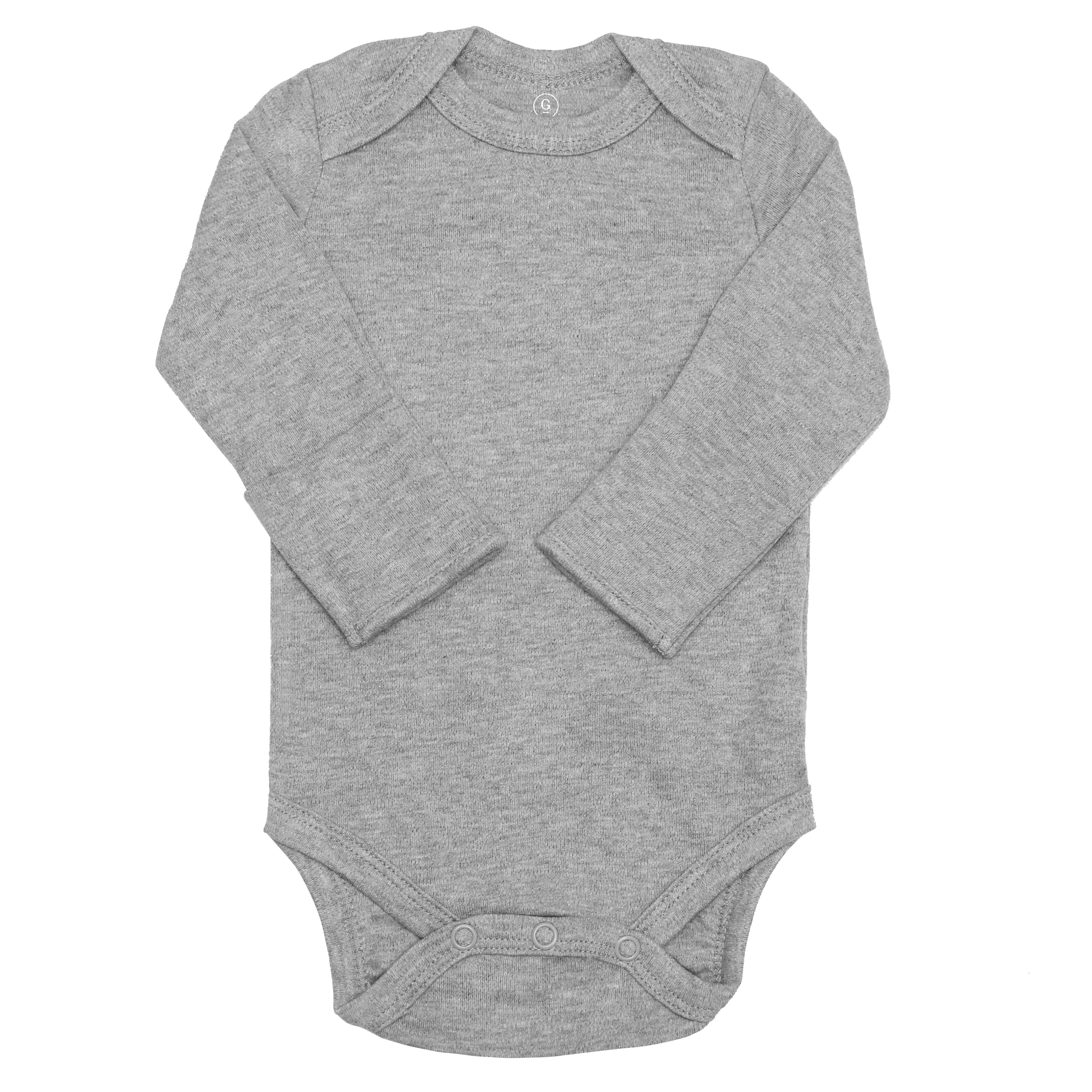 Long Sleeve Classic Bodysuits - Heather Gray