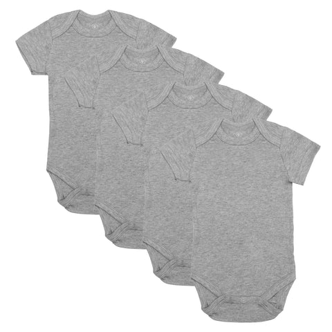 Short Sleeve Classic Bodysuits - Heather Gray