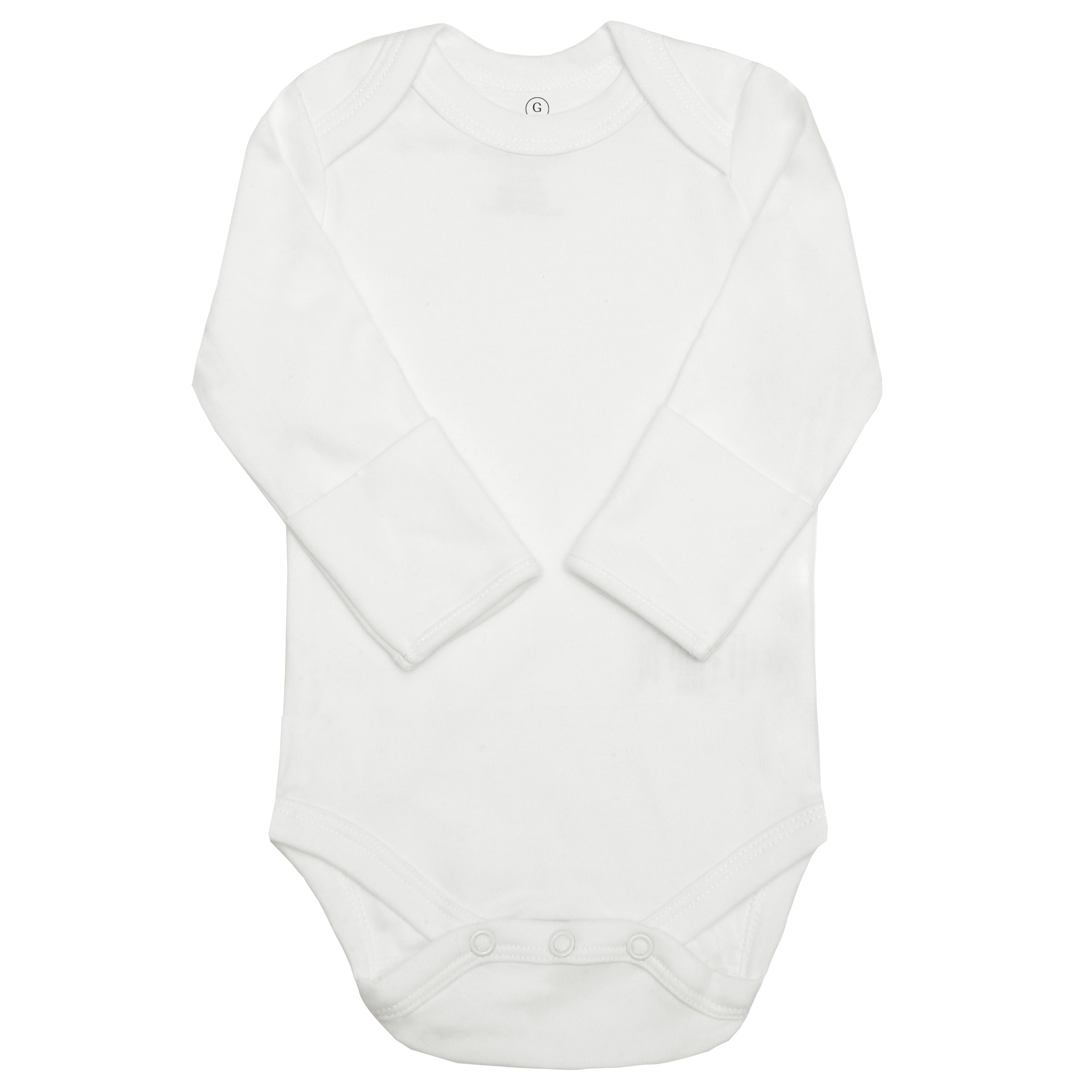 Long Sleeve Classic Bodysuits - White