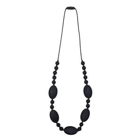 Harper Teething Necklace - Black/Oatmeal
