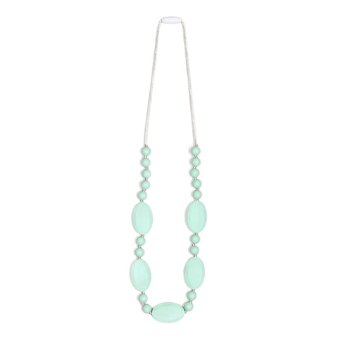 Harper Teething Necklace - Mint/Gray