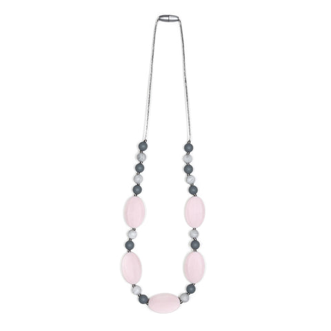 Harper Teething Necklace - White/Marble