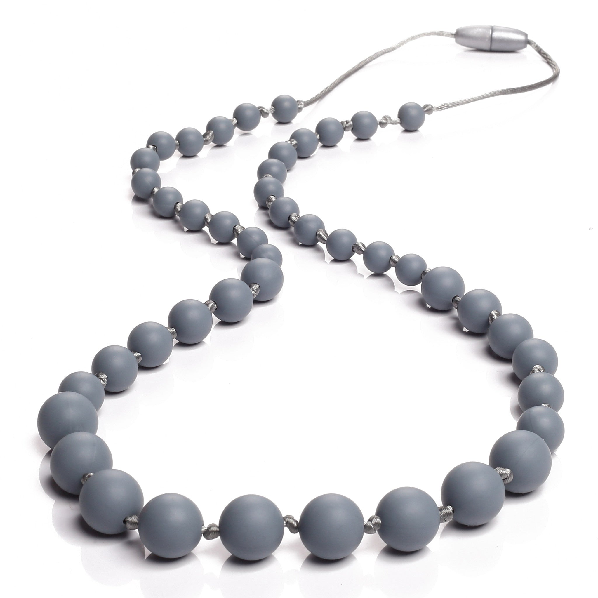 Audrey Teething Necklace - Gray