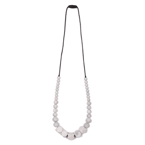 Naomi Teething Necklace - Grey/Marble