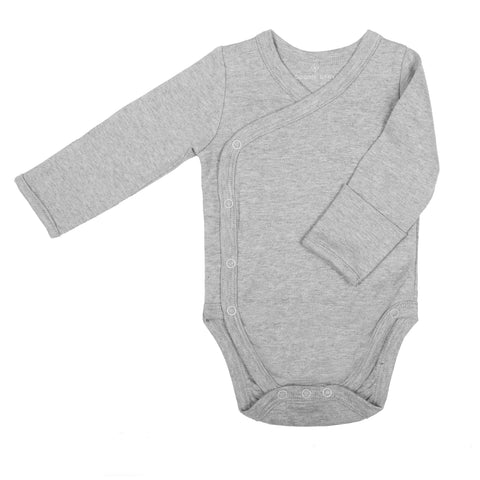 Long Sleeve Side Snap Bodysuits - Heather Gray