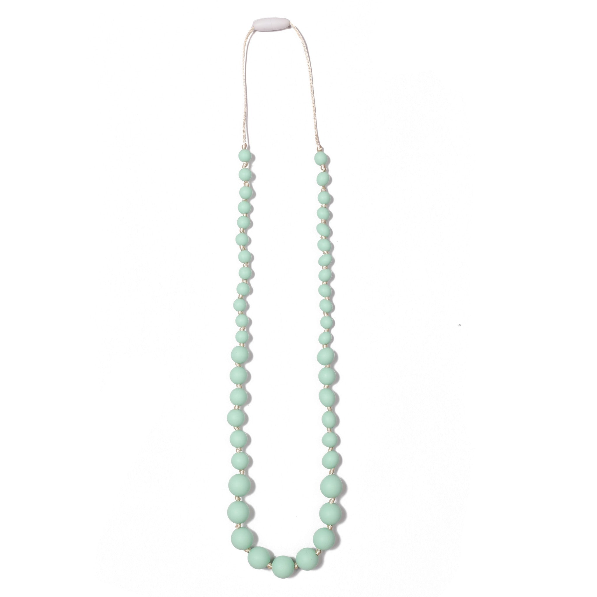 Audrey Teething Necklace - Mint