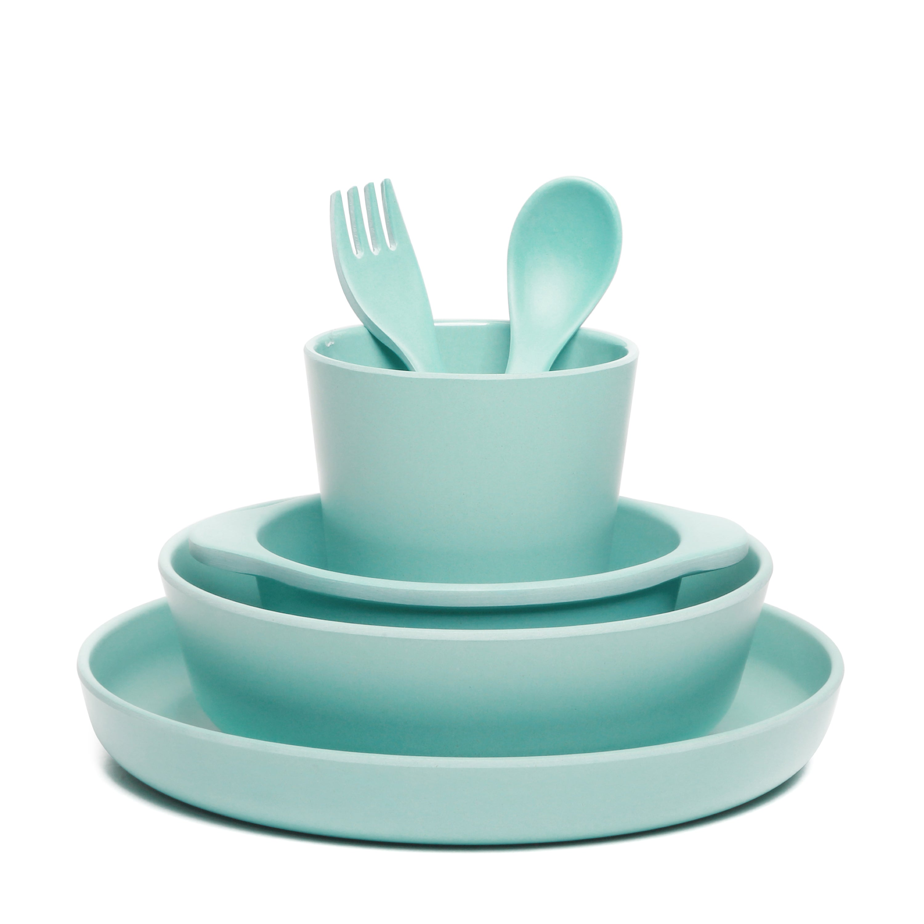 Bamboo 6 Piece Dinnerware Set - Mint