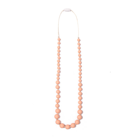 Audrey Teething Necklace - Peach