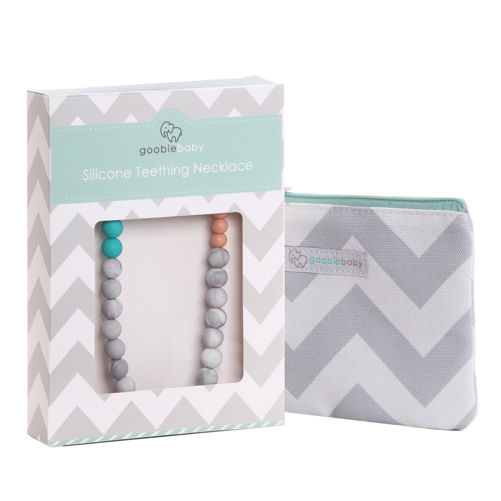 Sophie Teething Necklace - Turquoise/Grey/Marble/Peach