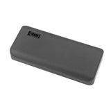USB Powerbank 10,000mAh External Charger with Dual Output  for Smartphones and Tablets (Silver)