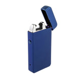 USB Flameless Lighter with Windproof Electric Single Arc - USB Cable Included (Blue)