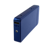 USB Flameless Lighter with Windproof Electric Double Arc - USB Cable Included (Blue)