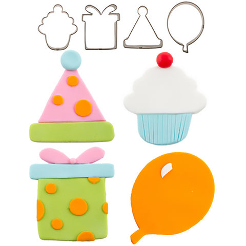 Mini Birthday Cutters 4 pc. Stainless Steel by Autumn Carpenter Cutie Cupcake - Cricket Creek