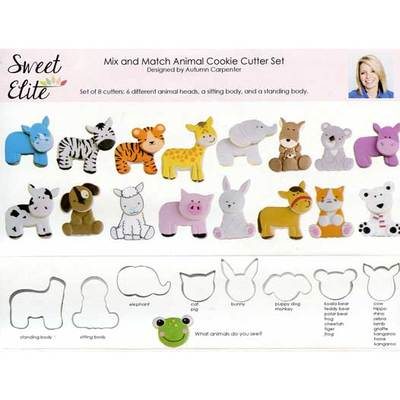 Mix and Match Animal Cookie Cutter Set- Sweet Elite Tools -by Autumn Carpenter - Cricket Creek