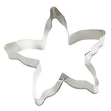 Beach Cookie Cutter Set - 2 Pieces - Starfish and Seashell- Ann Clark, Tin Plated Steel - Cricket Creek