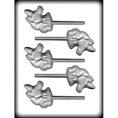Unicorn Head Hard Candy, Chocolate Sucker Lollipop Sheet Candy Mold White Plastic - Cricket Creek