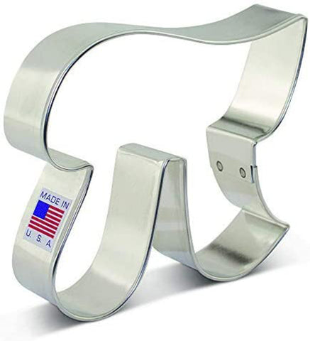 Pi Symbol Math Metal Cookie Cutter 3.75 Inch- by Ann Clark - US Tin Plated Steel - Cricket Creek