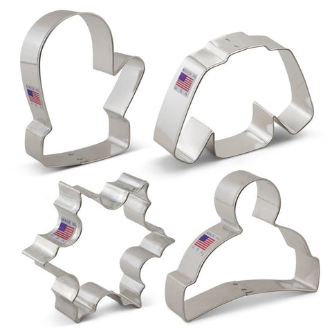 Winter Christmas Cookie Cutter Set 4 Piece  Ann Clark - Cricket Creek