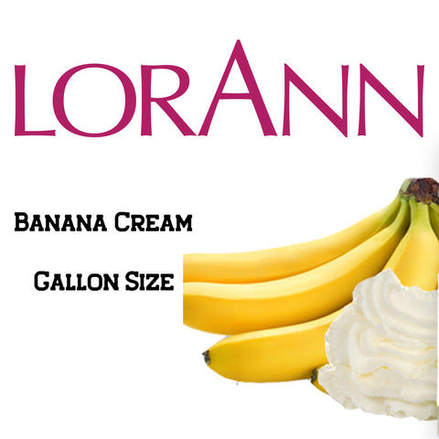 Banana Cream LorAnn Super Strength Flavor Gallon Size - Cricket Creek