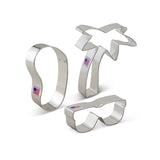 Beach Themed Cookie Cutter Set - 3 Piece - Ann Clark - Cricket Creek