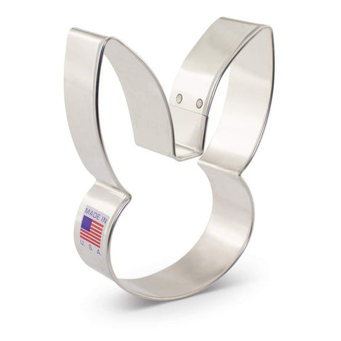 Bunny Face Metal Cookie Cutter - 4.25 Inch - Ann Clark - US Tin Plated Steel - Cricket Creek