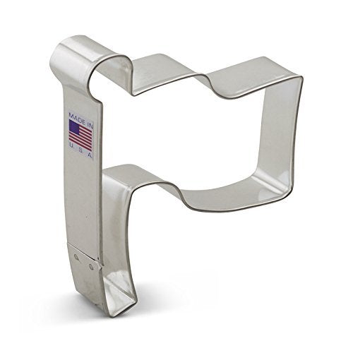 Ann Clark Flag Cookie Cutter - 4.25 Inches - Tin Plated Steel - Cricket Creek