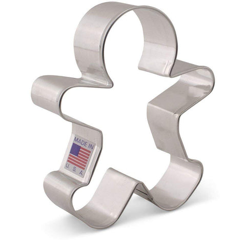 Gingerbread Man Cookie Cutter - 3.75 Inches- Ann Clark - Tin Plated Steel - Cricket Creek