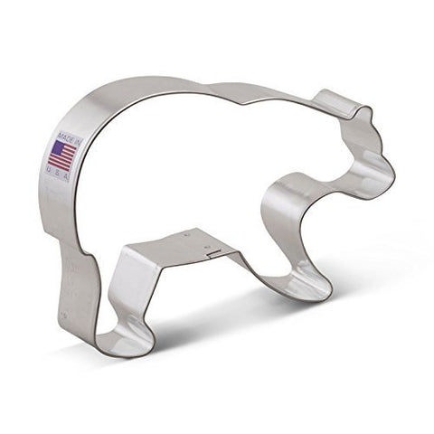 Ann Clark Grizzly Bear Cookie Cutter - 5.25 Inches - Tin Plated Steel - Cricket Creek