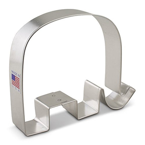 Ann Clark Elephant GOP Republican Cookie Cutter - 4.4-inches - Tin Plated Steel - Cricket Creek